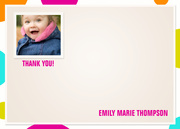 Color Cool Pink - Birthday Thank You Cards