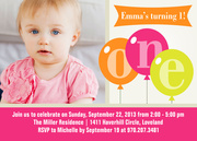 One Gal - Girl Birthday Invitations