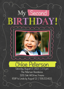 Chalk Around -  Girl Party Invitations
