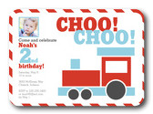Photo Birthday Party Invitations - Train Pass