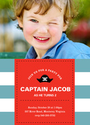 Boy Birthday Invitations - Captain's Call