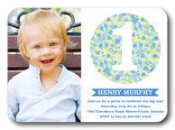 Candy Cool Blue - Boy Birthday Invitations