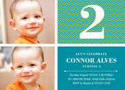 Birthday Invitations for Boys - Native Blue