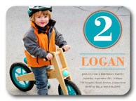 Birthday Invitations for Boys - Bike Badge