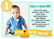 Lil Gold One - Boy Birthday Invitations