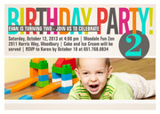 Color Cool Blue -  Birthday Invitations for Kids
