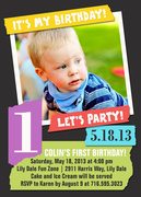 Scrap Book -  Birthday Invitations for Boys