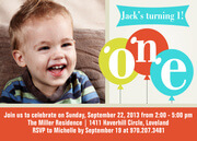 Birthday Invitations for Boys - One Guy
