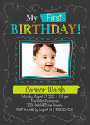 Chalk Play -  Birthday Invitations for Boys