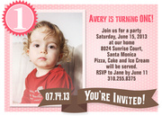 Strawberry Sherbert - Girl Birthday Invitations