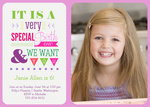 Photo Girl Birthday Invitations - Special Day Lilac