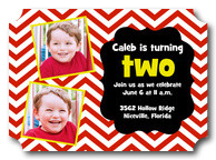 Up 'n Down Red - Boy Birthday Invitations