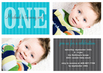 Photo Boy Birthday Invitations - His Pinstripes