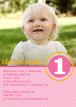 Girl Photo Birthday Party Invitations - Rosy One