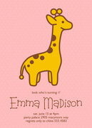 Girl Birthday Invitations - Sweet Zoo