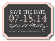 Save the Date Photo Cards - Pinstripe Pink Date