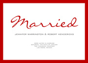 Cherry Married - Wedding Announcements
