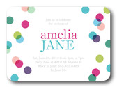 Photo Girl Birthday Invitations - Tiny Bubbles