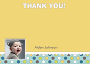 Confetti One Blue - Birthday Thank You Cards
