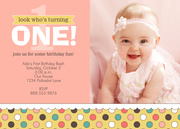 Girl Party Invitations - Confetti One Pink