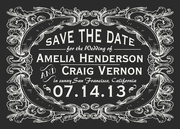 Victorian Leaf Date -  Photo Save the Date Cards