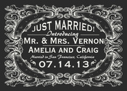 Victorian Leaf Day - Wedding Announcements
