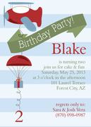 Boy Birthday Invitations - Birthday Skies