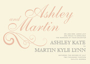 Peach Damask Day - Wedding Announcements