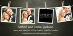 Share your nuptial news with beautiful Wedding Announcements from Simply to Impress! Choose from our wide variety of designs today.  - Darkroom Wedding Announcement