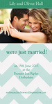 Stitch Just Married-Share your nuptial news with beautiful Wedding Announcements from Simply to Impress! Choose from our wide variety of designs today.