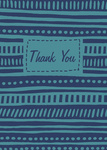 Bluesy Thanks -  Thank You Notes for Men