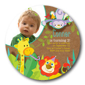 Boy Photo Birthday Party Invitations - Jungle Jam
