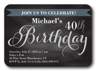 Handsome Script - Adult Birthday Invitations