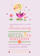Party Bird -  Girl Party Invitations