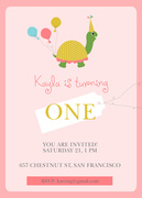 Girl Birthday Invitations - Tiny Turtle