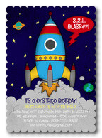 Boy Birthday Invitations - Birthday Blastoff