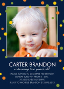 Confetti Play Blue -  Birthday Invitations for Boys
