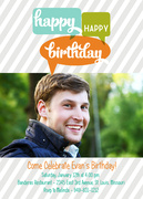 Birthday Bubbles -  Adult Birthday Party Invitations