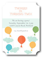 Boy Birthday Invitations - Up 'n Away