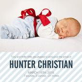 Infant Boy Birth Card  - Modern Arrival
