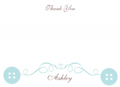 Baby Shower Thank You Cards, Baby Blue Seal Design
