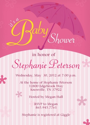 Baby Shower Invites , Rosey Celebration Design