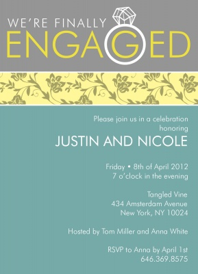 Engagement Party Invitations, Ring Me Design