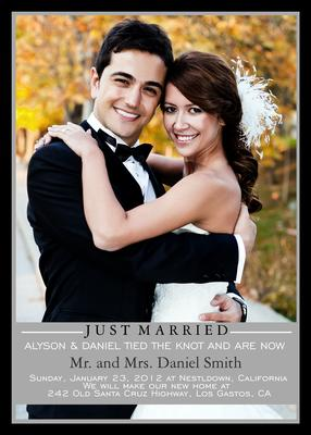 Wedding Announcements, Mr. & Mrs. Design