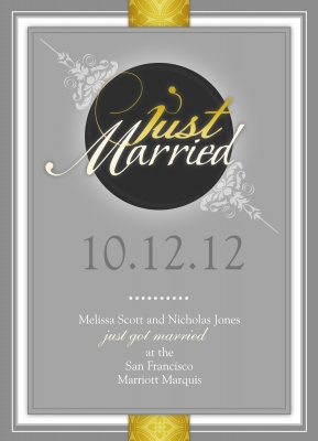 Wedding Announcements, Festive Formal Design
