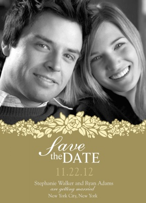 Save the Date Cards, Garland Love Date Design
