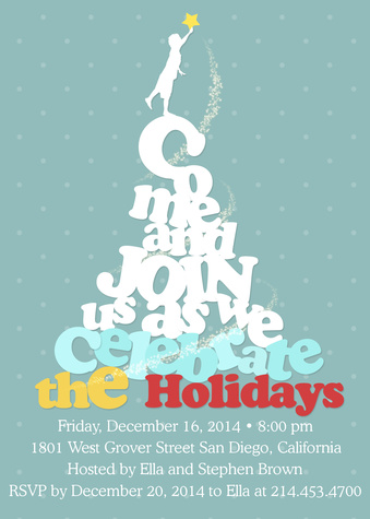 Holiday Party Invitations, Catch a Star Design