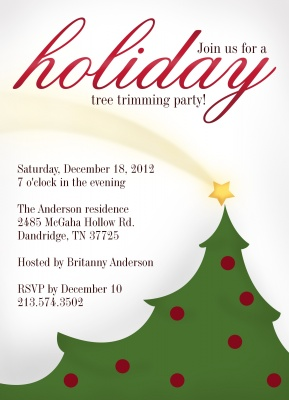 Holiday Party Invitations, Shooting Star Design
