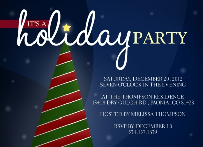 Holiday Party Invitations, Simply Spectacular Design