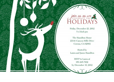 Holiday Party Invitations, Reindeer Ready Design
